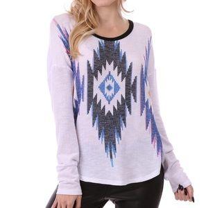 Desert star lightweight long sleeve knit sweater